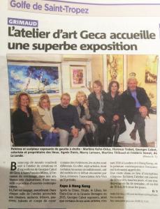 l'atelier d'art Geca accueille une superbe exposition