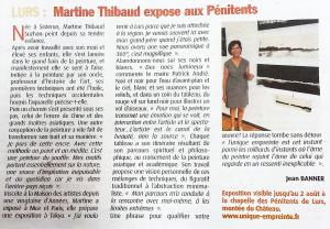 Martine Thibaud expose aux pénitents